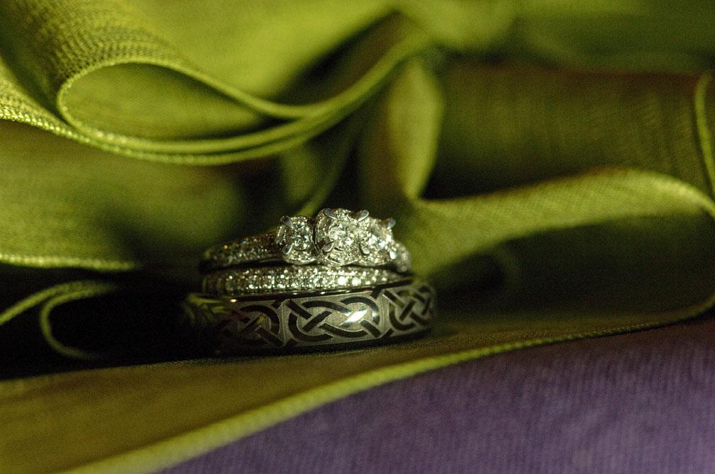 Wedding ring detail at Megan and Rob's wedding