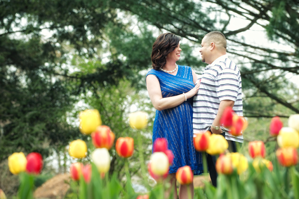 engagement photos at Schoepfle Gardens