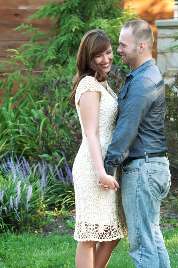 natalie and adam  for their engagement photos in kirtland, ohio